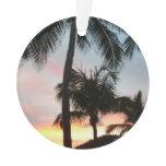 Sunset Palms Tropical Landscape Photography Ornament