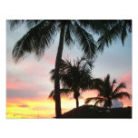 Sunset Palms Tropical Landscape Photography Photo Print