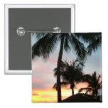 Sunset Palms Tropical Landscape Photography Pinback Button