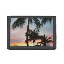 Sunset Palms Tropical Landscape Photography Trifold Wallet
