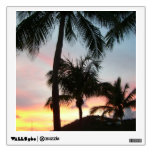 Sunset Palms Tropical Landscape Photography Wall Sticker