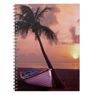 Sunset Palmtree Photo Notebook (80 Pages B&W)