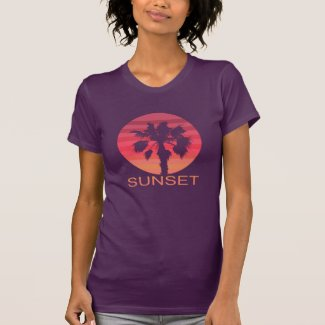 Sunset Palmtree T-Shirt