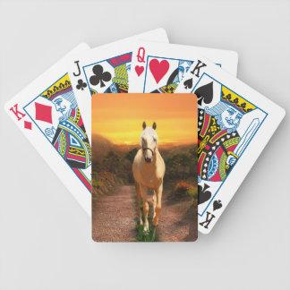 Sunset palomino bicycle playing cards