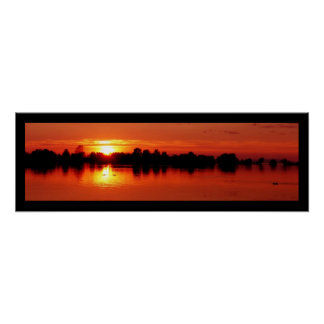 Sunset Panorama at the Lake Constance - Poster