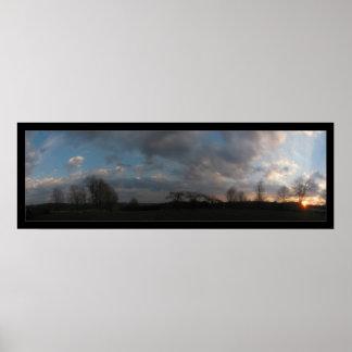 Sunset Panorama Poster