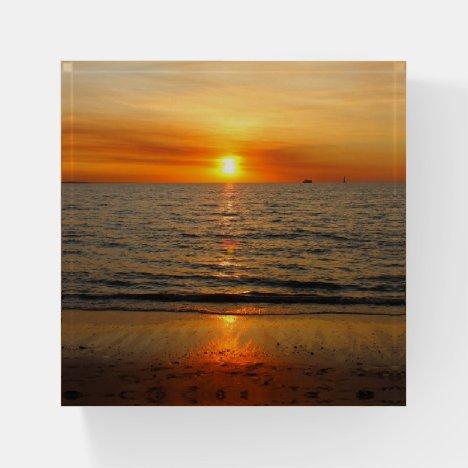 Sunset Paperweight