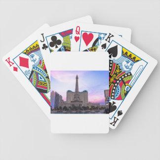 Sunset Paris Las Vegas Tour Eiffel Fake Bicycle Playing Cards