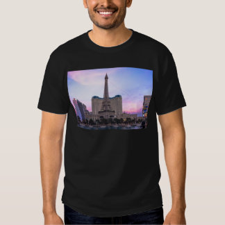 Sunset Paris Las Vegas Tour Eiffel Fake T-shirt
