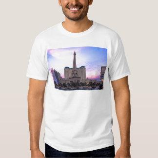Sunset Paris Las Vegas Tour Eiffel Fake Tee Shirt