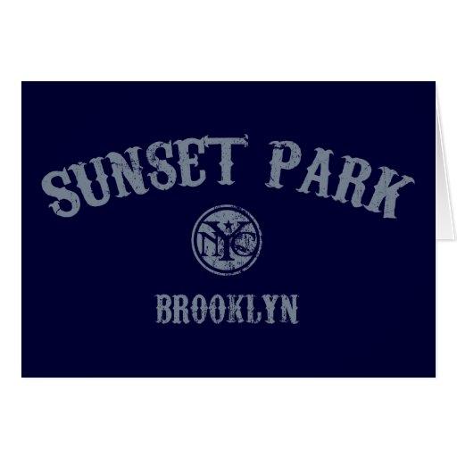 Sunset Park Greeting Card