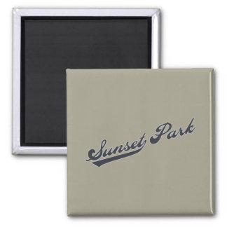Sunset Park Refrigerator Magnet