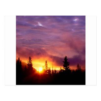 Sunset Part The Skies San Isabel Postcard