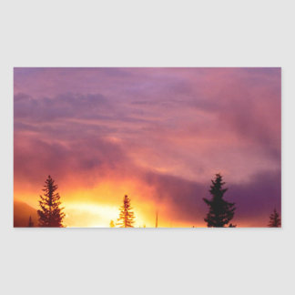 Sunset Part The Skies San Isabel Rectangular Sticker