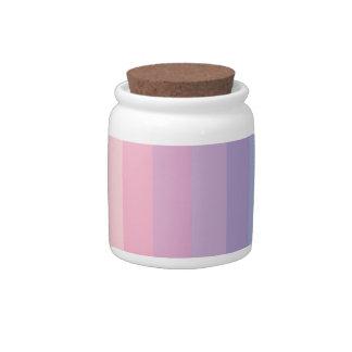 Sunset Pastel Stripes Candy Jars