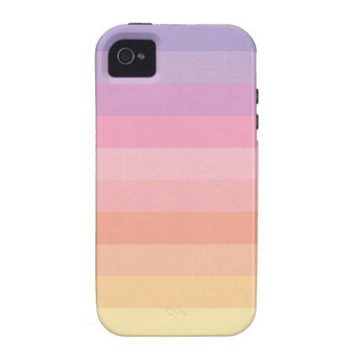 Sunset Pastel Stripes iPhone 4 Case