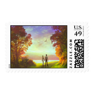 Sunset path stamp