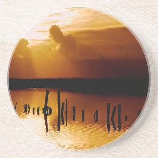Sunset Peace And Harmony Sandstone Coaster