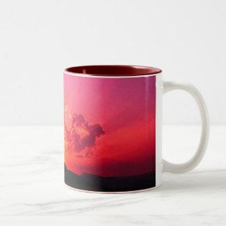 Sunset, peaceful Two-Tone coffee mug