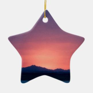 Sunset Peaks Of Egypt Ornaments