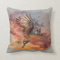 Sunset Pegasus Throw Pillow 16