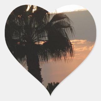 Sunset Pegatina En Forma De Corazón