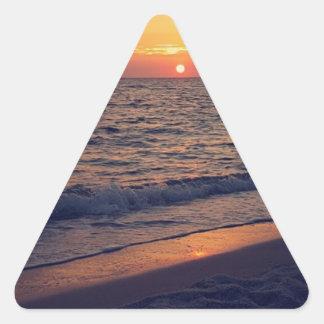 sunset pegatina triangular