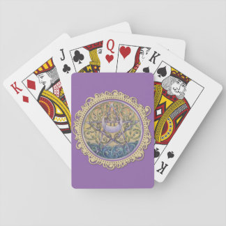 Sunset Pentacle Playing Cards - Purple