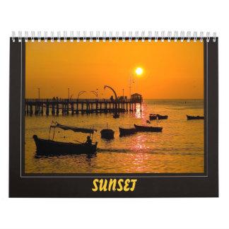 sunset peru calendar