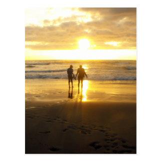 Sunset Photo at the Beach Postcard