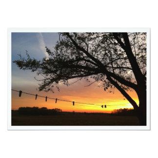 Sunset Photo Invitation Template