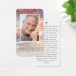 Sunset Photo Memorial Prayer Card