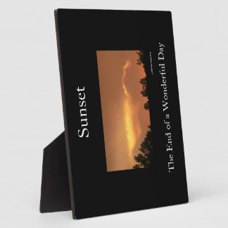 Sunset Photo Plaques