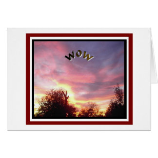 Sunset Photo Thinking Of You Friendship Greeting Card