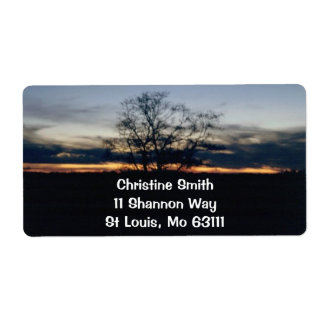 Sunset Photograph Personalized Shipping Label