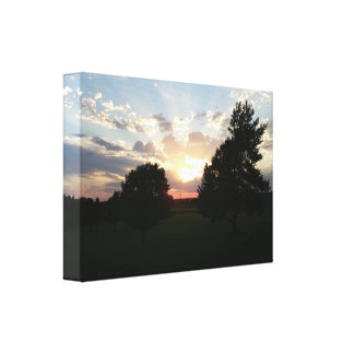 Sunset picture 1 over Butternut Hills Golf Course Canvas Print