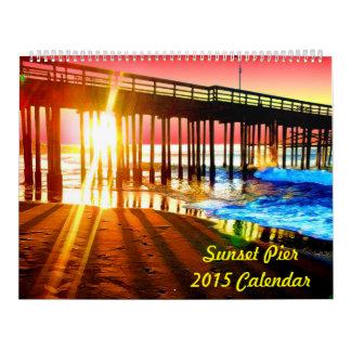Sunset Pier Calendar