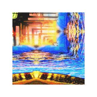 Sunset Pier Squared 2 Canvas Print