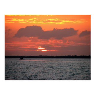 Sunset, Placencia, Belize Postcard