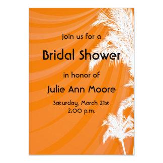 Sunset Plam Trees Bridal Shower Card