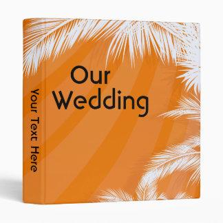 Sunset Plam  Trees Wedding Photo Album Binder