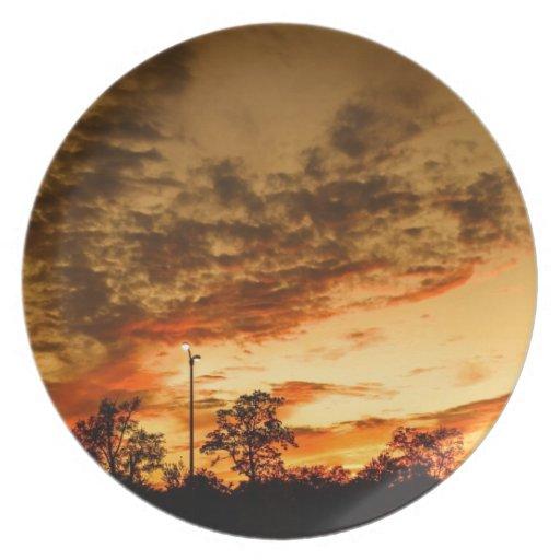 Sunset Plates