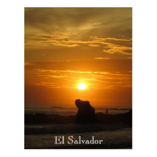 sunset playa el tunco postcard