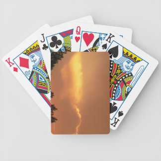 Sunset Bicycle Playing Cards