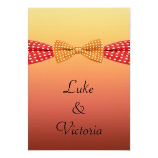Sunset Polka Dot Summer Wedding 5x7 Paper Invitation Card