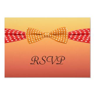 Sunset Polka Dot Summer Wedding 3.5x5 Paper Invitation Card