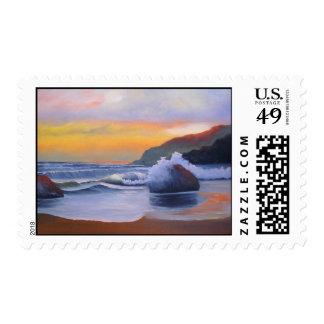 Sunset - Postage Stamp