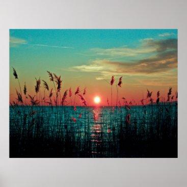 Beach Themed Sunset Poster