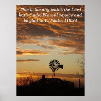 Sunset psalm print