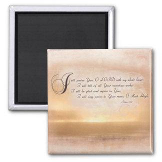 Sunset & Psalms / Inspirational Bible Verses Refrigerator Magnet